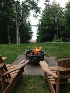 Firepit at the cottage
