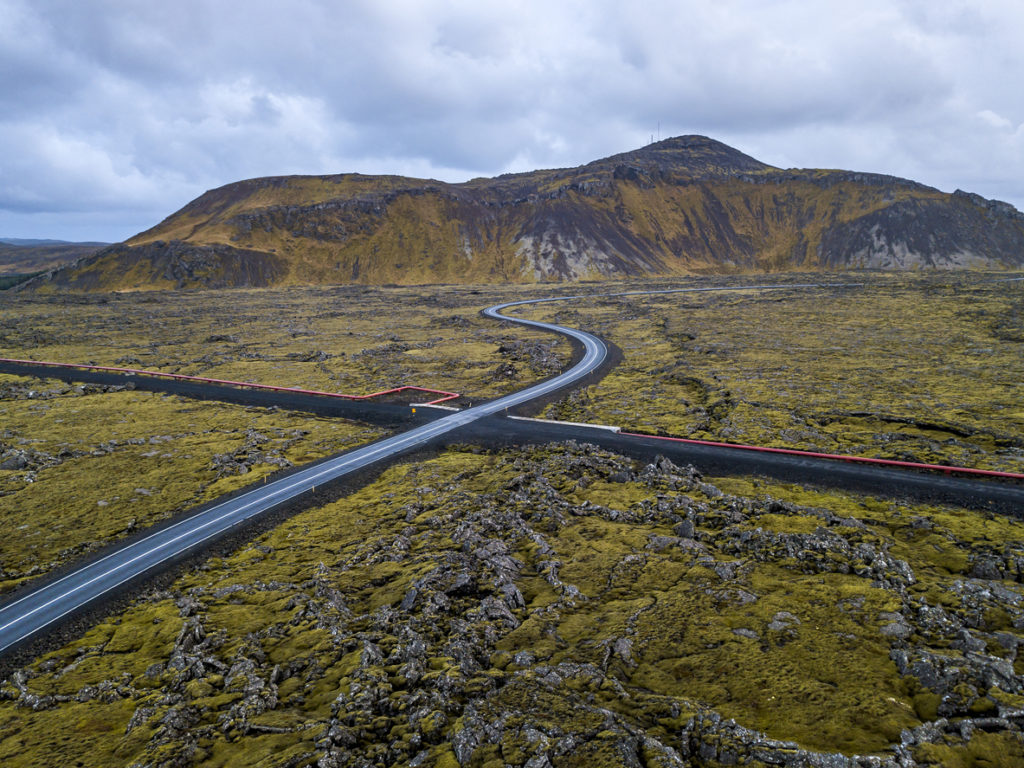 Lava fields covered with moss